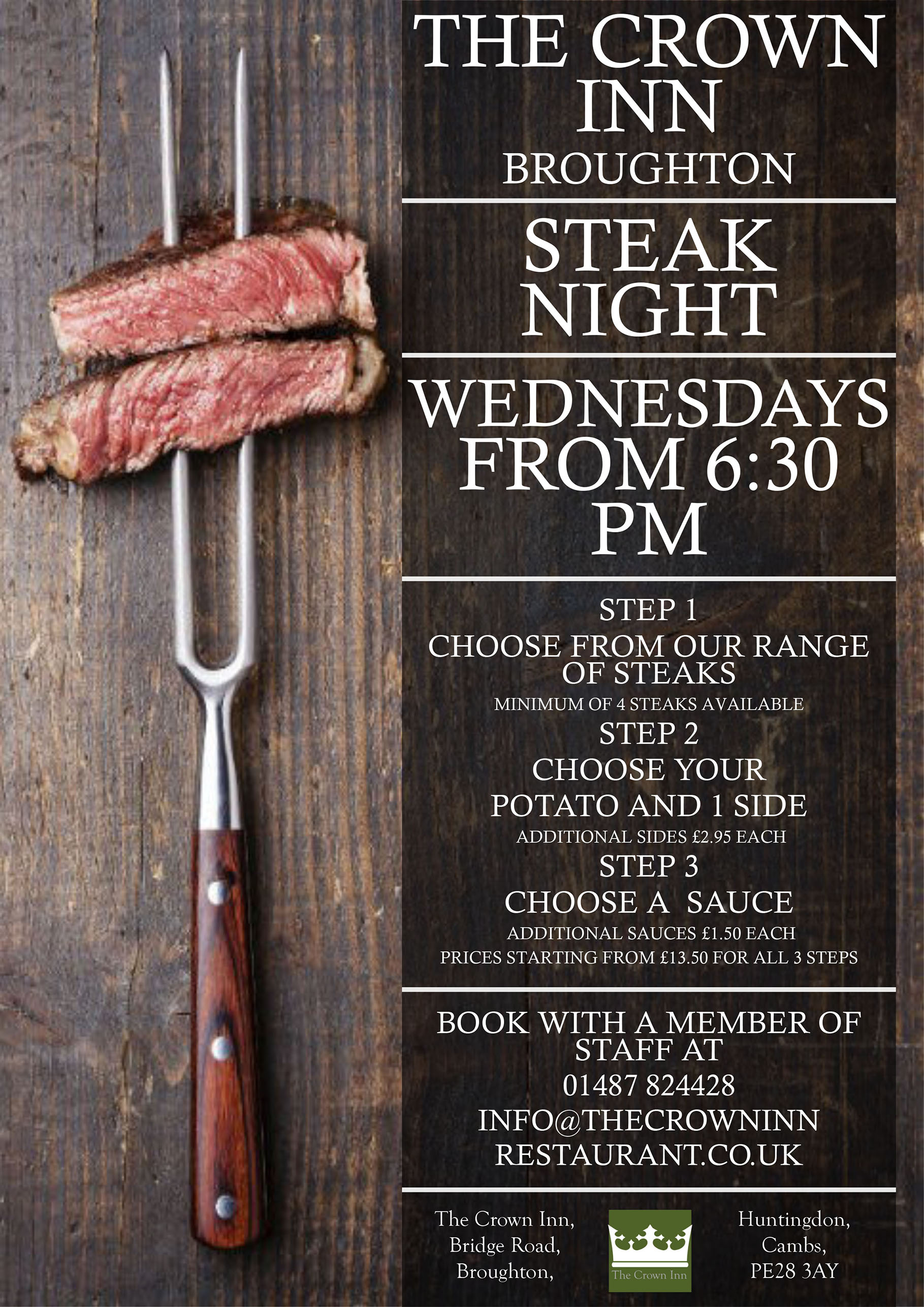 steak night poster portrait